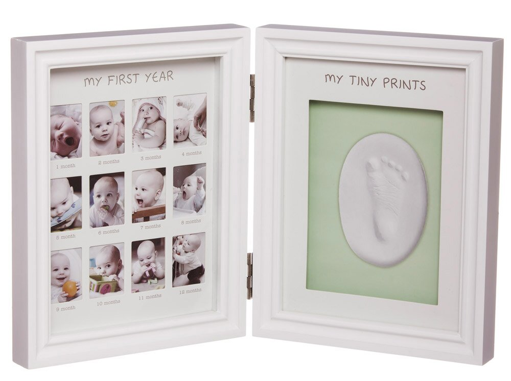 my first year clay imprint hinged picture frame kit - My First Year Photo Frame