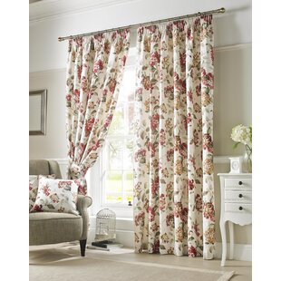 carnaby pencil pleat room darkening panel curtains set of 2 - Small Window Curtains