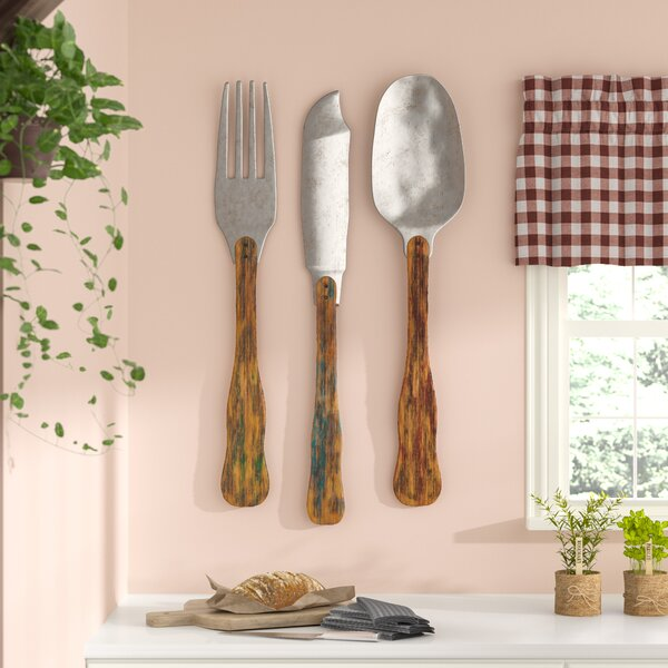 big fork and spoon wall decor | wayfair.ca