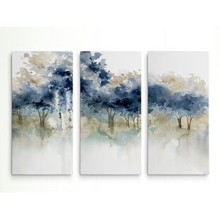 U0027Waters Edge Iu0027 Acrylic Painting Print Multi Piece Image On Wrapped Canvas
