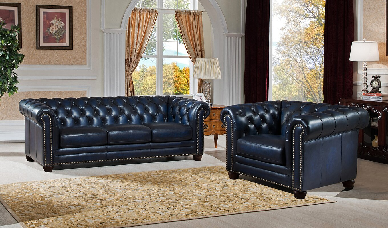 Amax nebraska 2 piece leather living room set reviews 2 piece leather living room set