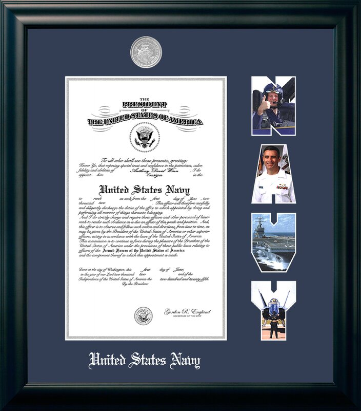 PATF Navy Certificate Picture Frame & Reviews | Wayfair