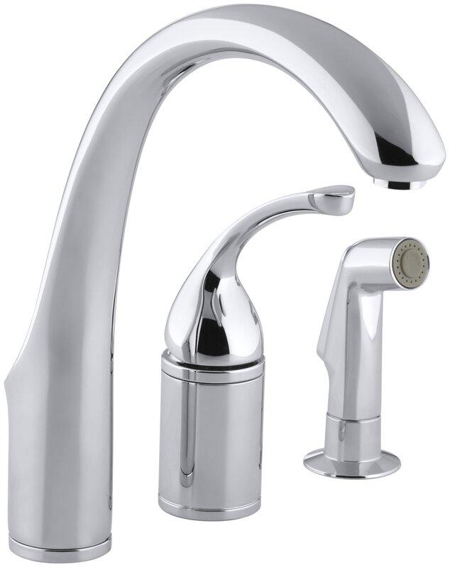 Kohler Forté 3-Hole Remote Valve Kitchen Sink Faucet with 9\