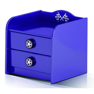 Racer 2 Drawer Nightstand by Just Kids