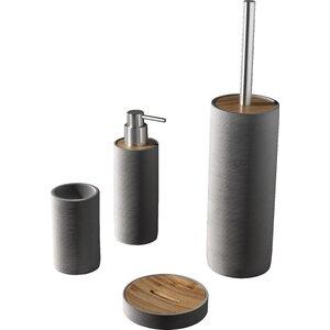 earle 4 piece bathroom accessory set
