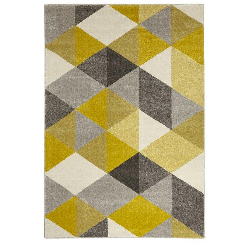 glanzend teppich gelb braun - kokoon teppich mouto in gelb bewertungen