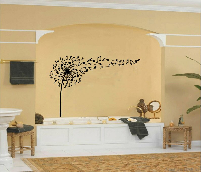 Red Barrel Studio Dandelion and Music Notes Wall Decal | Wayfair