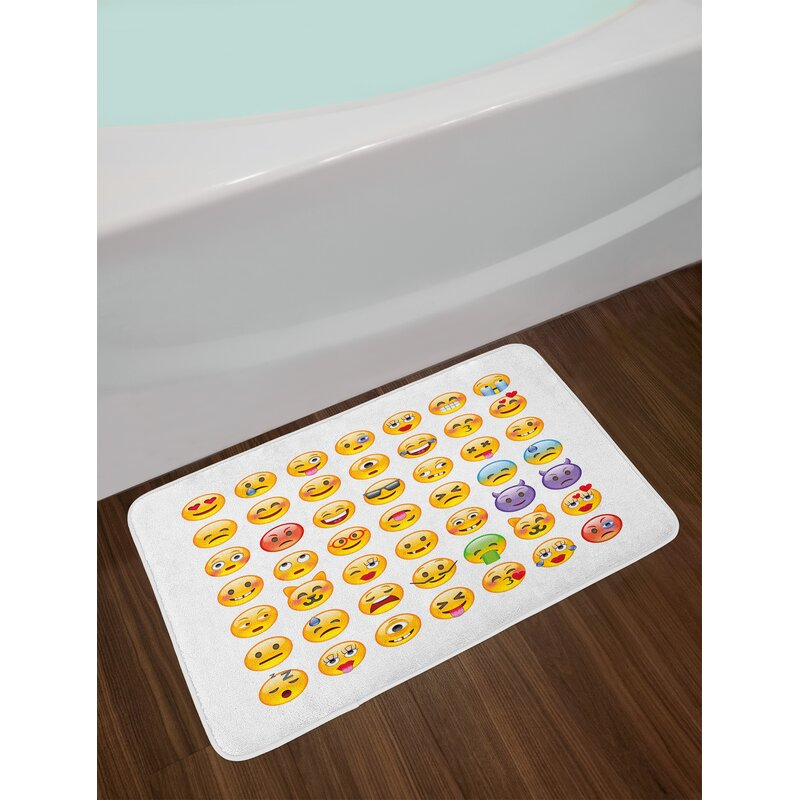 Emoji Bathroom Rug Bathroom Design Ideas