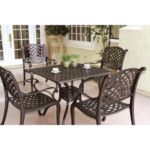 Lincolnville 5 Piece Square Dining Set with Cushions