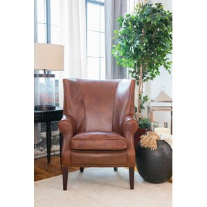 brayden leather wingback chair