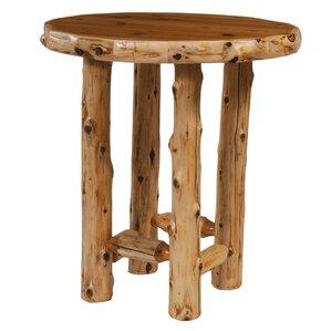 Traditional Cedar Log Dining Table by Fir..