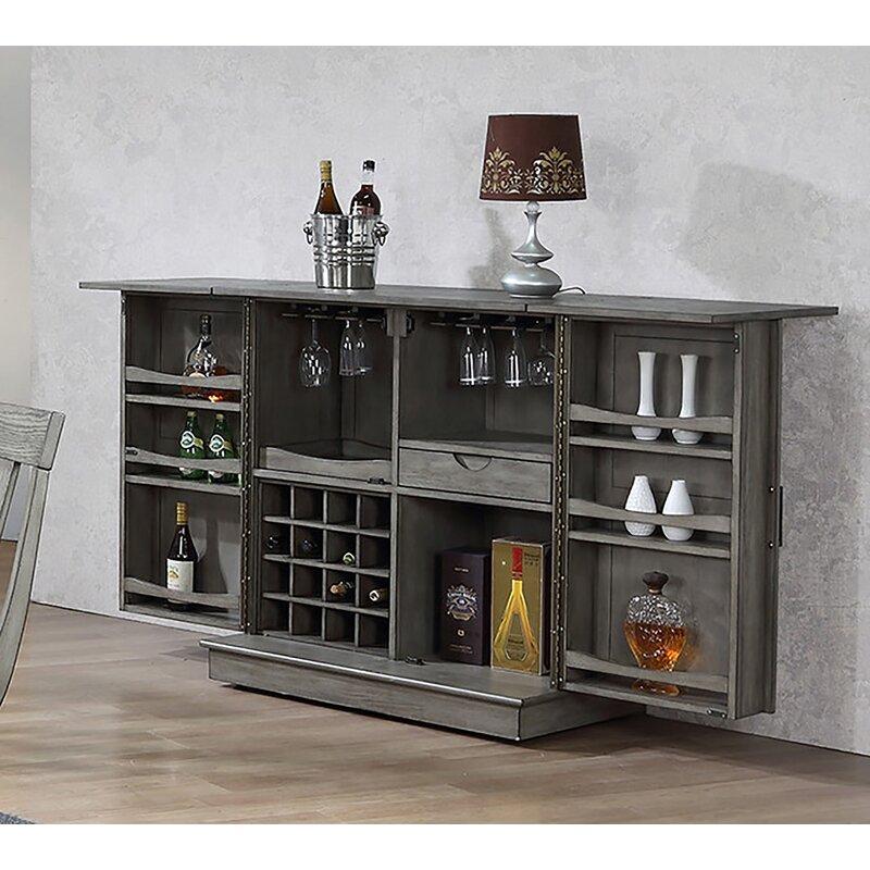 Mini Bar Cabinet Furniture: Ophelia & Co. Vergara Expandable Bar Cabinet & Reviews