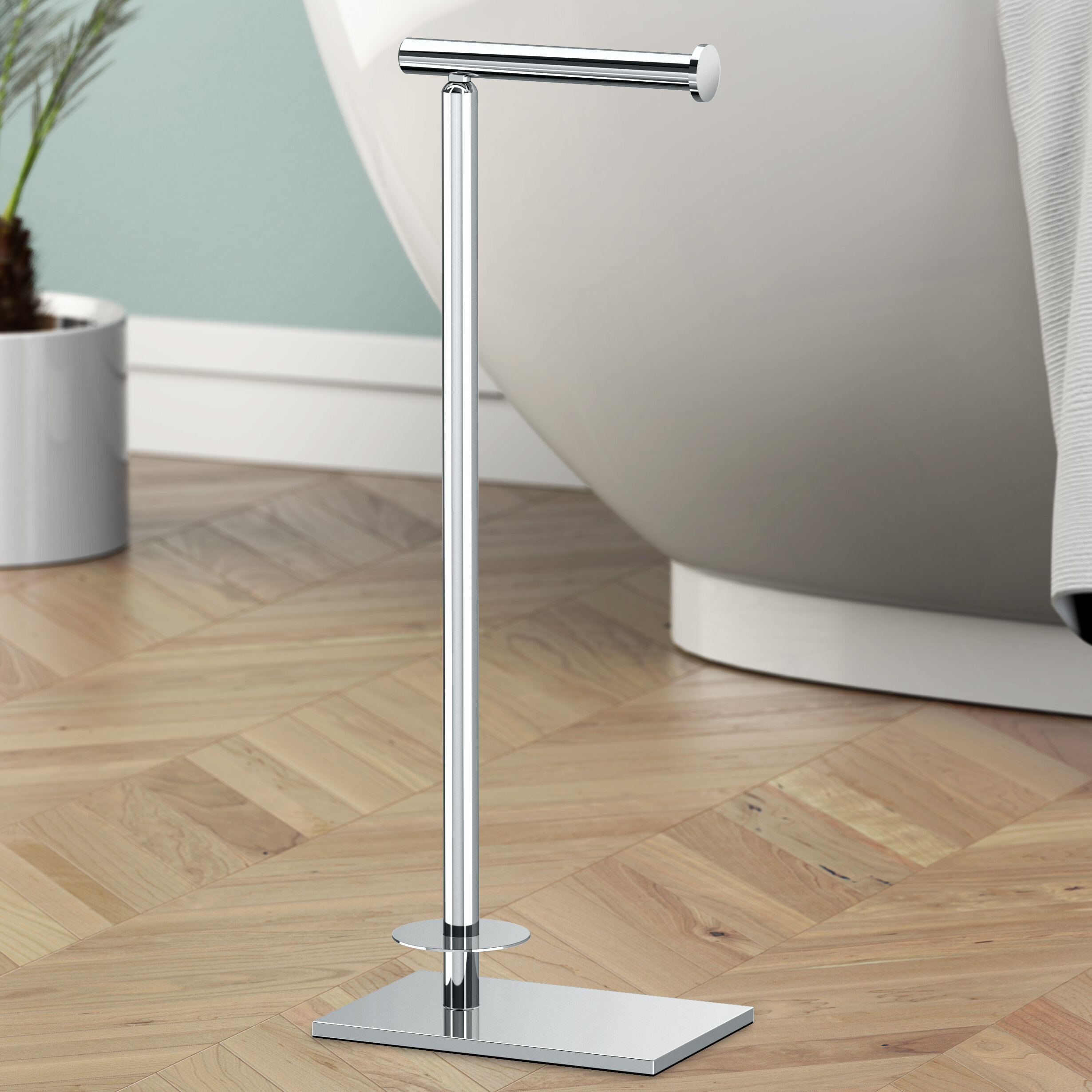 Genial Gatco Modern Tissue Free Standing Toilet Paper Holder With Storage U0026  Reviews | Wayfair