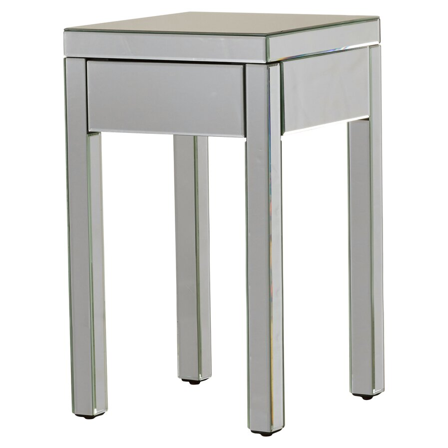 modern glass mirrored end side tables allmodern