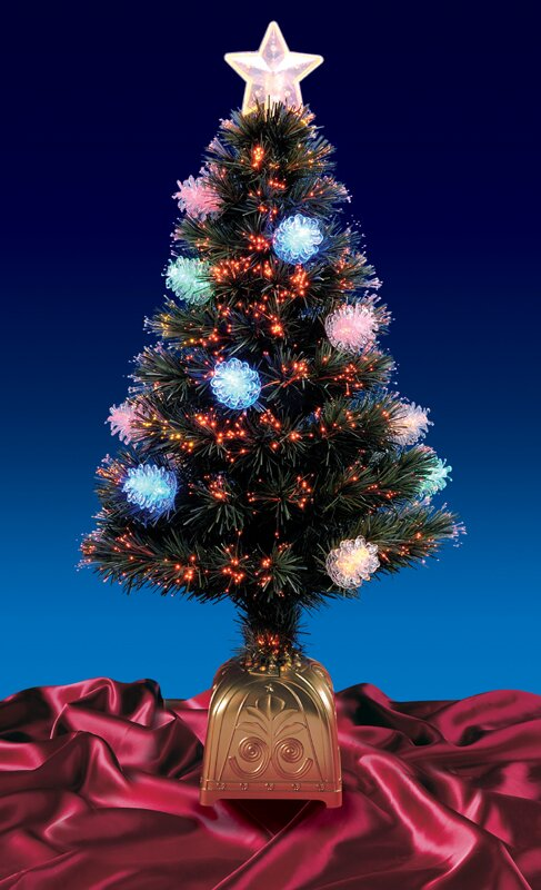 Northlight 3' Pre-Lit Fiber Optic Pine Cone Artificial Christmas ...