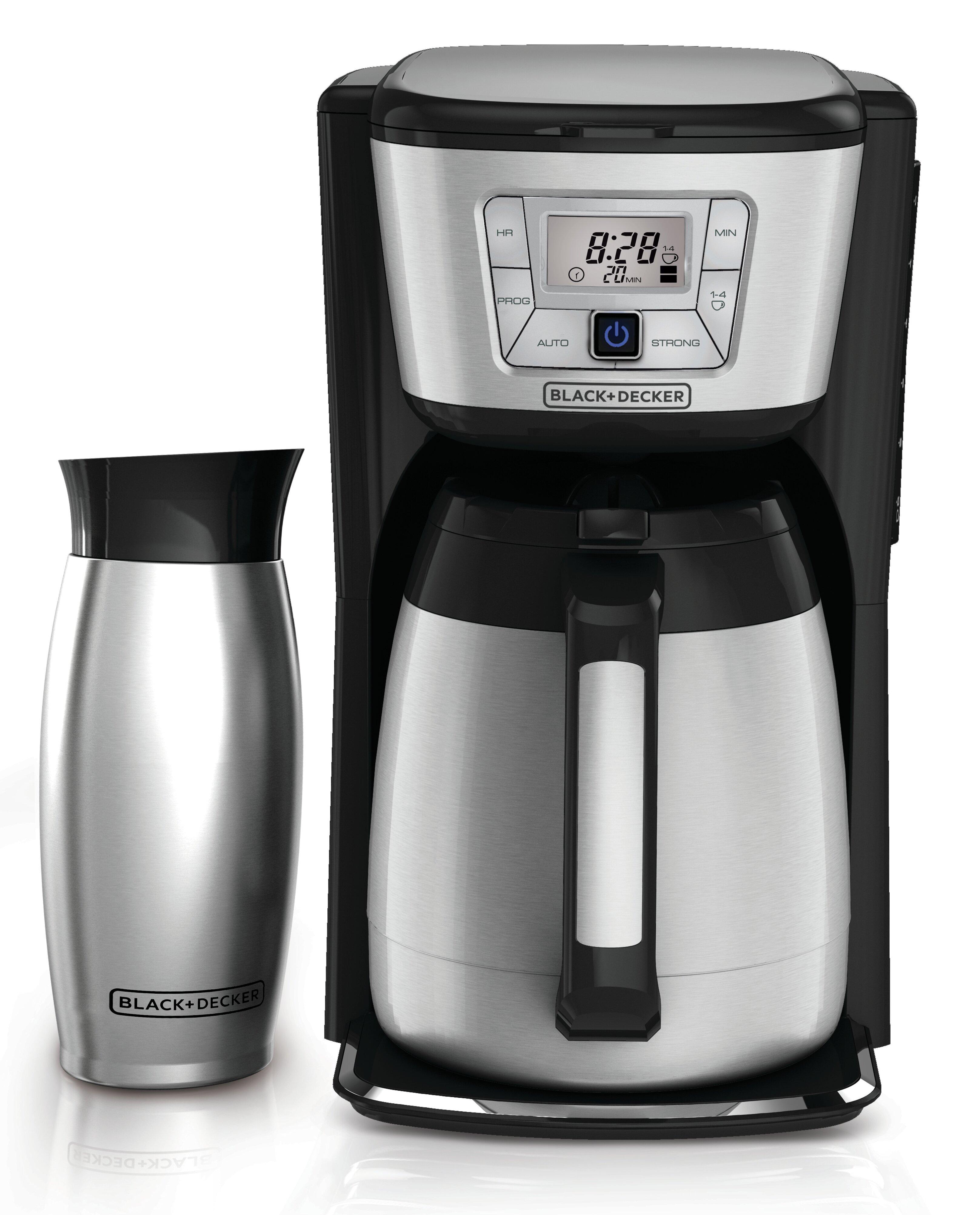 752898e05e3 Black + Decker 12-Cup Thermal Coffee Maker and Mug   Reviews