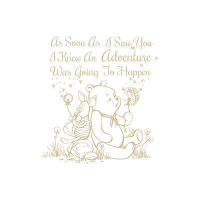 Wall Décor Purposeful Art Print Winnie The Pooh Quotes Sketch Picture Children Nursery Baby Wall