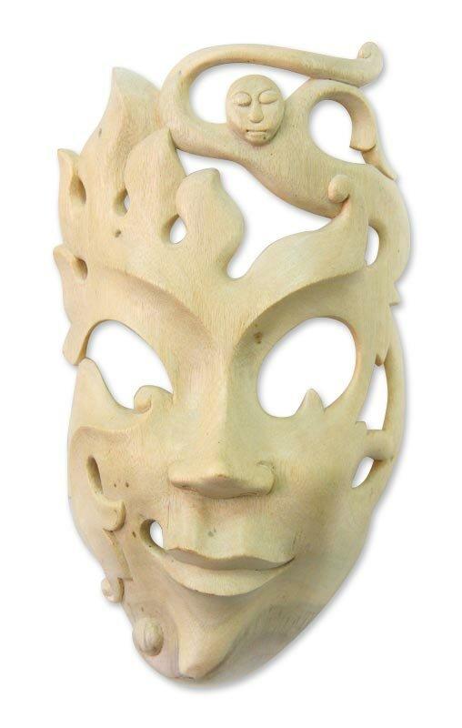 Novica Expressions Wood Mask Wall Décor & Reviews   Wayfair