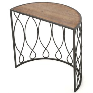 clearfield woodiron accent end table