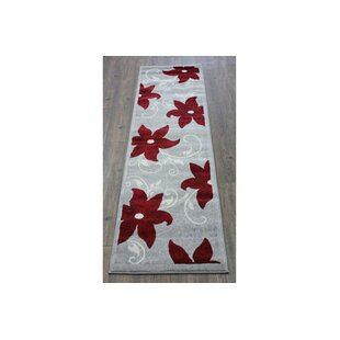 Compare & Buy Mariya Floral Red/White Area Rug By Winston Porter