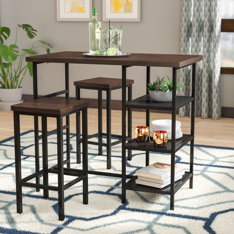 Du Bois 3 Piece Pub Table Set & Ivy Bronx Du Bois 3 Piece Pub Table Set u0026 Reviews | Wayfair