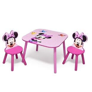 Minnie Children 3 Piece Square Table And Chair Set by Delta Children