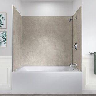 Tub Shower Wall Panels.Swan Solid Surface 72 5 X 62 X 36 Three Panel Shower Wall