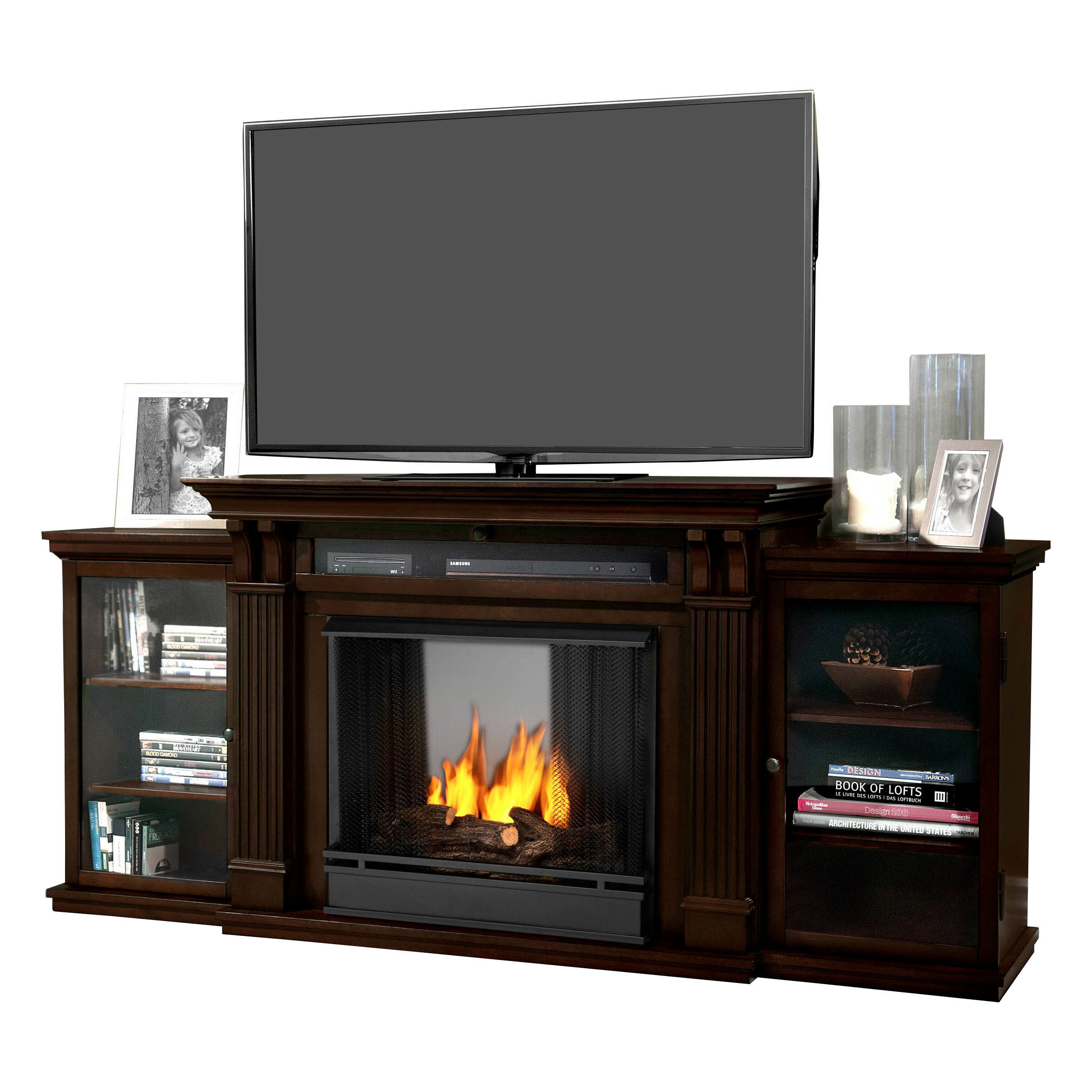 Tv Top Entertainment Center With Electric Fireplace Linear
