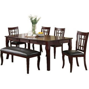 Hawk Haven 6 Piece Extendable Dining Set Wonderful