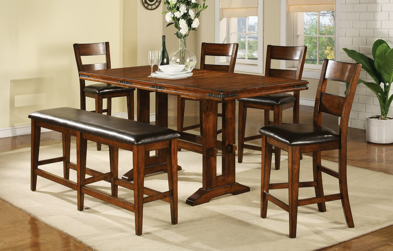 loon peak agatha counter height extendable dining table u0026 reviews