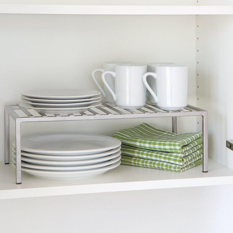 Rebrilliant Expandable Kitchen Cabinet Helper Shelf & Reviews ...