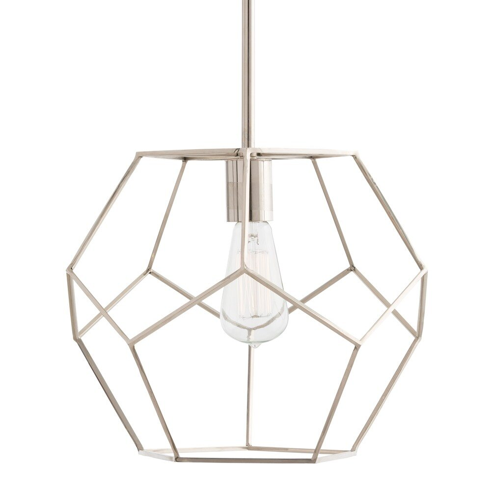 geometric designer interior large pendant tribecca the product chrome