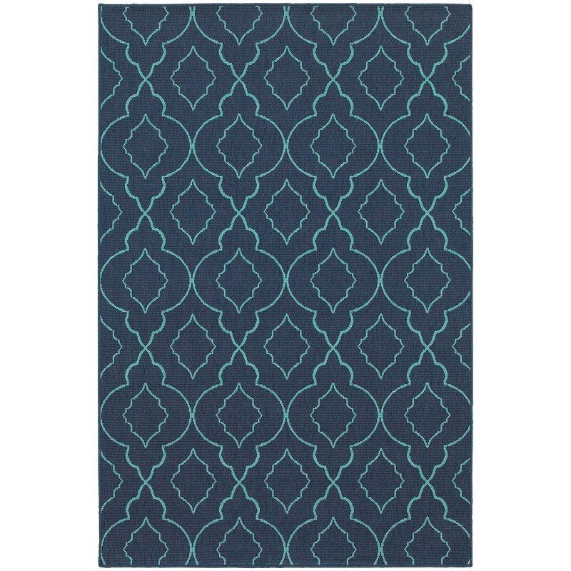 Beachcrest Home Kailani Navyblue Indooroutdoor Area Rug Reviews