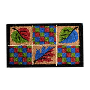 Creel Leaves Rope Doormat