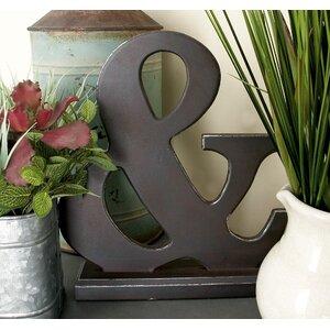 Ampersand Letter Block