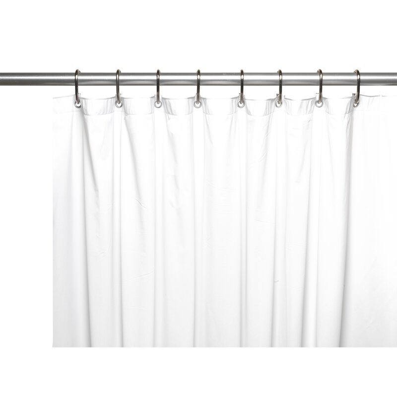 Pettry 10 Gauge Mildew Resistant Vinyl Single Shower Curtain Liner Reviews