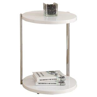 faebccb4b823 Modern Contemporary White High Gloss End Table Allmodern