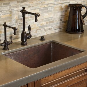 Bathroom Sink 24 X 18 hammered nickel undermount sink | wayfair
