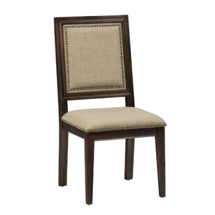 Zebrowski Nailhead Trim Upholstered Dining Chair (Set of 2)