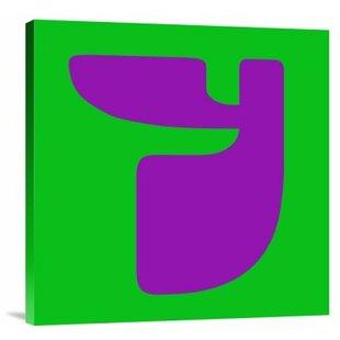 Letter y wayfair letter y purple graphic art print on canvas sciox Images