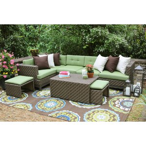 Hampton 8 Piece Sectional Seating Group with Sunbrella Cushions