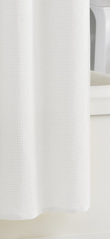 Kassatex Waffle Cotton Shower Curtain Reviews Wayfair