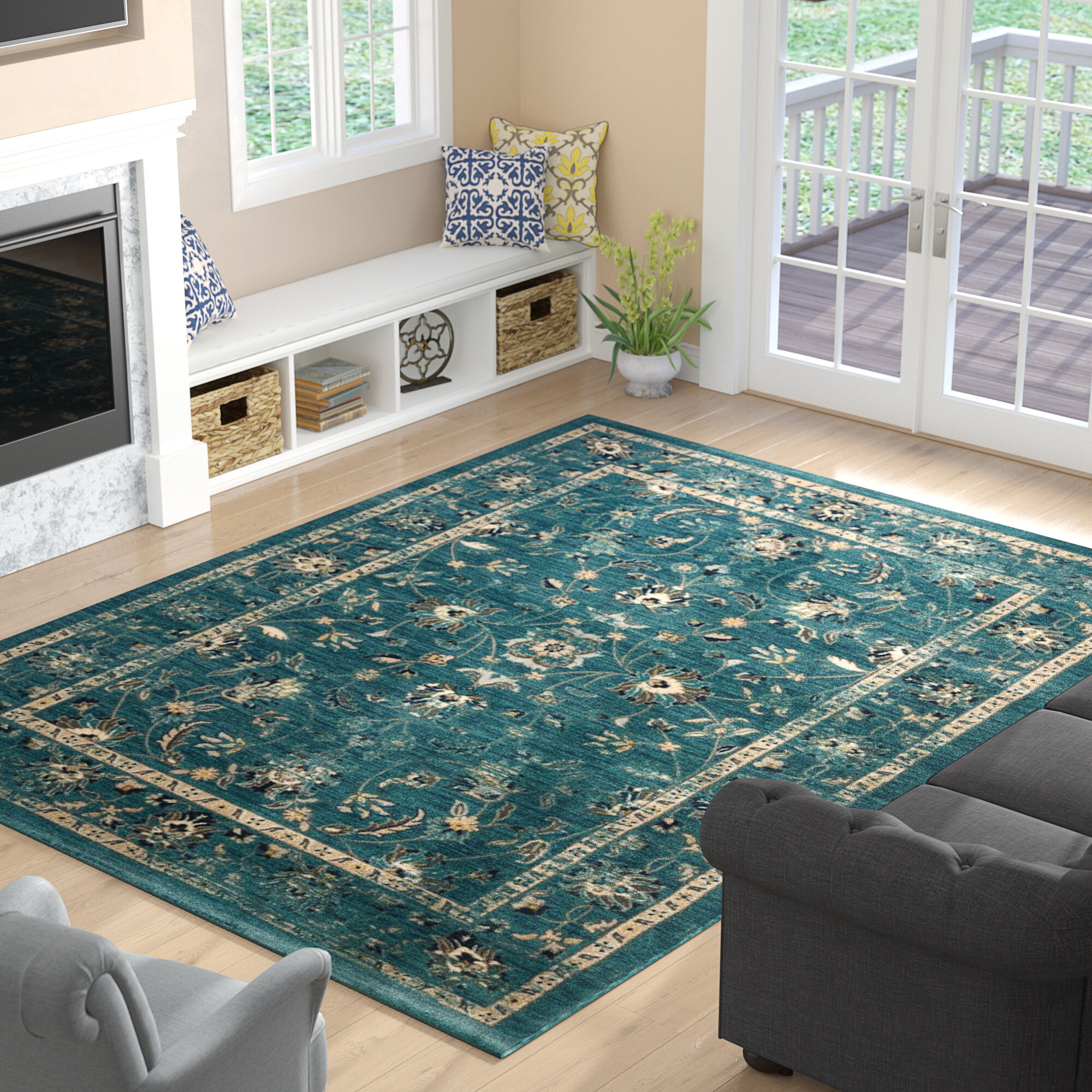 Three posts morehouse turquoise beige area rug reviews wayfair