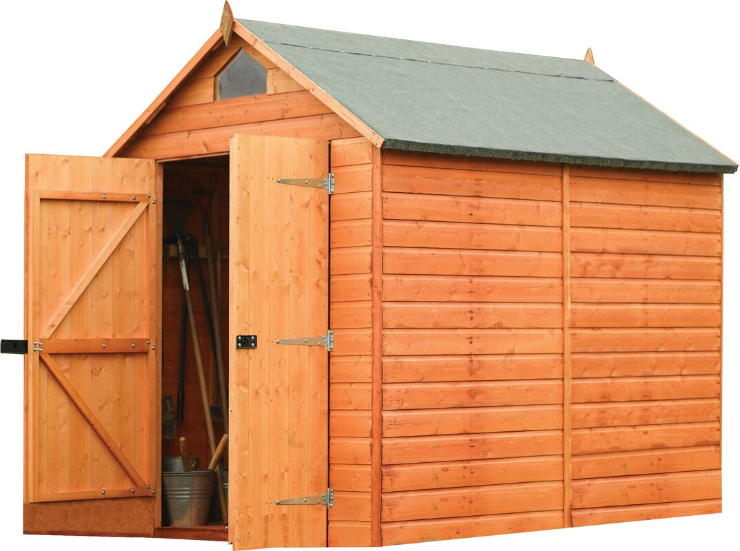 Garden Sheds 4 X 8 rowlinson 6 ft. 4 in. w x 8 ft. 1 in. d wooden storage shed