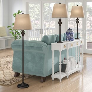 Peoria 3 Piece Table And Floor Lamp Set