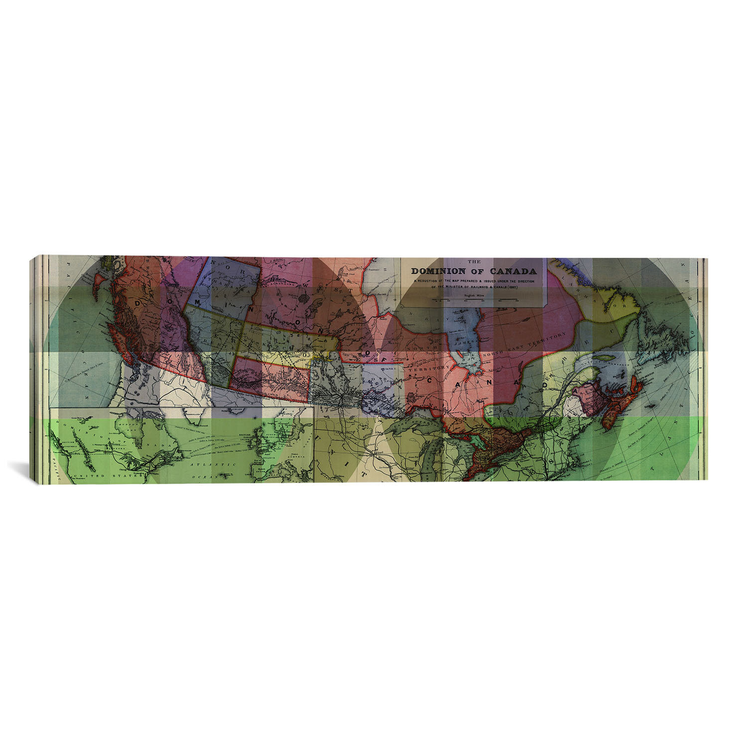 Icanvas The Dominion Of Canada Vintage Map Panoramic 3