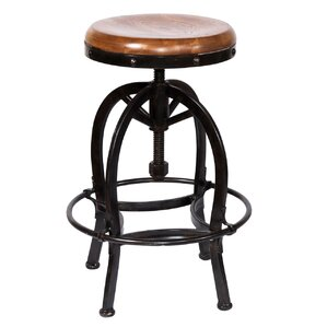 Fresno Adjustable Height Bar Stool by Loon Peak