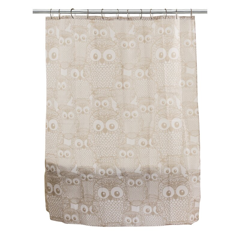 Amazonia Owl Party Fabric Shower Curtain