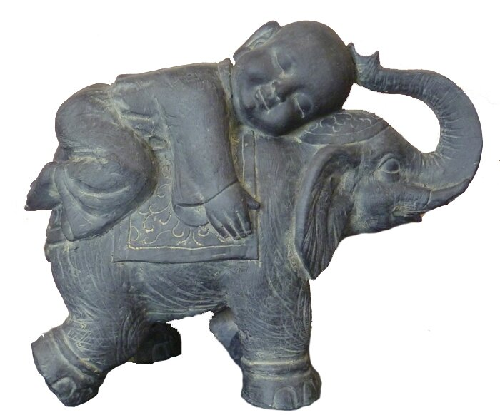 baby buddha sleeping on elephant statue best elephant 2017. Black Bedroom Furniture Sets. Home Design Ideas