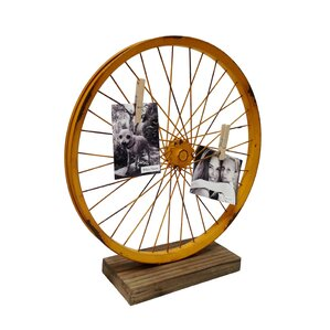 Metal Bike Wheel Table Art Sculpture